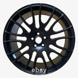 Matt Black x4 22 Hamann Style Alloy Wheels Range Rover Sport SVR Vogue