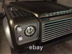 Pair Led Headlights 7 Dot E Marked Chrome Land Rover Defender 90 110