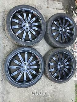 Range Rover 22 Alloy Wheels with Tyres 5x108 PCD Land Rover Discovery L322