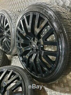 Range Rover Kahn RS Style 22 Alloy Wheels Sport Discovery Black Vogue L320 L322