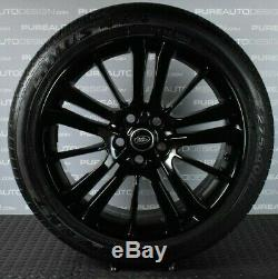 Range Rover Sport 20 Inch Alloy Wheels With Tyres PIANO GLOSS BLACK x 4