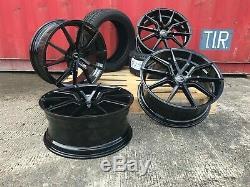 Range Rover Sport 22 Sport Turbine Aluwerks Spyder Alloys Black Wheels + Tyres