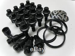 Range Rover To Vw T5 Black Wheel Fitting Kit Nuts Bolts Lockers Centre Cap Badge