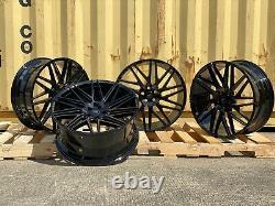 Range Rover Vogue Sport 22 Alloy Wheels Turbine L322 L320 L494 GLOSS BLACK