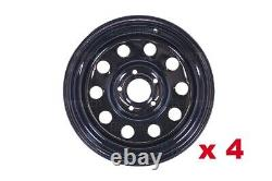 Steel modular 16 rims for Land Rover Discovery 2 & Range Rover P38 Black x 4
