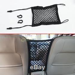 Vehicle Car Seat Elastic Mesh Net Accessories Storage Pocket Bag Holder Black