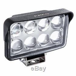 WOW 2X 32W Spot 4D Lens LED Work Light Bar Offroad Truck Lamp 12V + Wiring kit