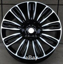 X4 22 Inch Range Rover Style Alloy Wheels Black Pol Vogue Sport Disco 9012