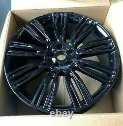 X4 22 Range Rover 9012 Style Alloys Vogue Sport Discovery Defender Gloss Black